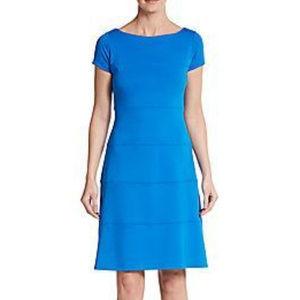 Ivanka Trump Ponte Knit Fit & Flare Dress Ocean 12